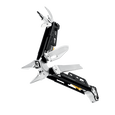 Leatherman signal multi-tool, stainless steel, beauty fanned view, 19 tools