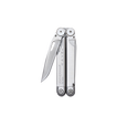 Leatherman original wave multi-tool, stainless steel, closed view with accessible knife open