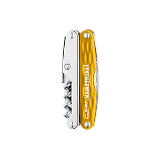 Leatherman juice c2 multi-tool, yellow, 12 tools, closed view