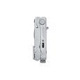 Leatherman crunch multi-tool, stainless steel, closed view, 15 tools