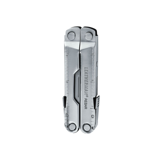 Leatherman Rebar multi-tool, stainless steel, 17 tools, closed view