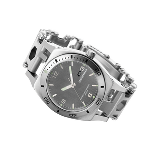 Leatherman tread tempo multi-tool watch in stainless steel, 30 tools