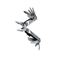 Leatherman Rebar multi-tool, stainless steel, 17 tools, angled open view