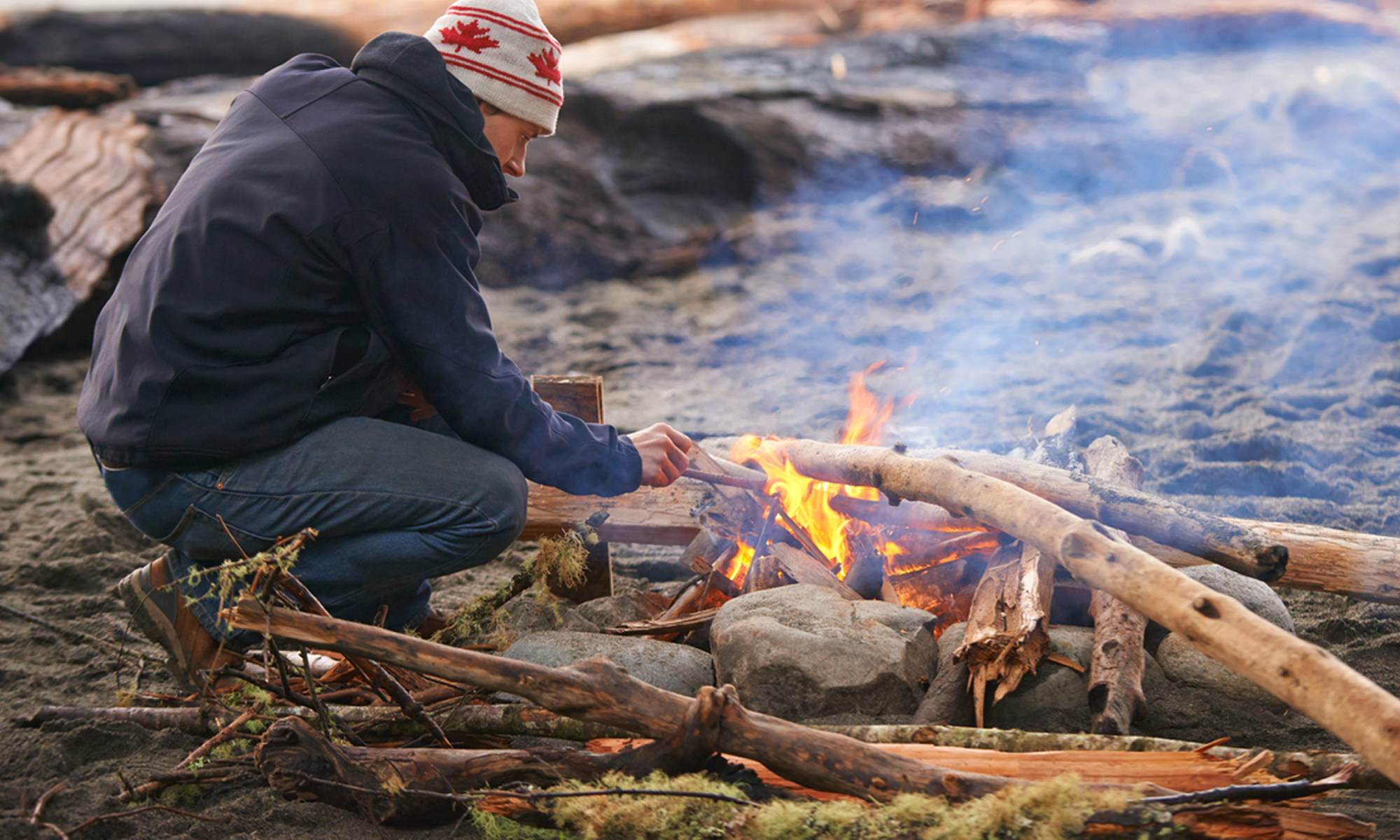 How to Start a Campfire When Everything Is Wet