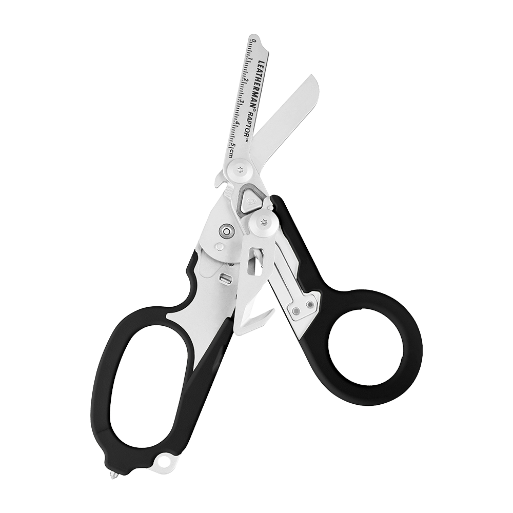 Leatherman Signal shears, black, open view